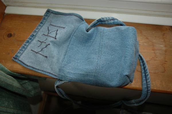 Bag with flap open