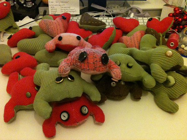 Some of my Christmas frogs...