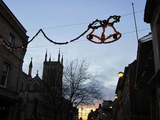 Christmas decorations in town...