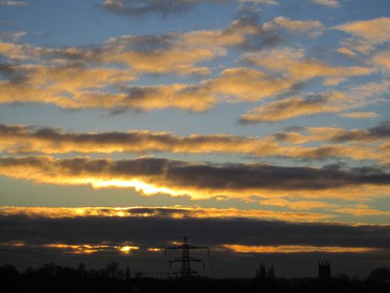 Sunset over Stamford