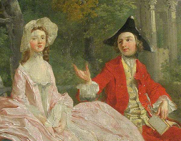 A section of Gainsborough's painting in the Louvre