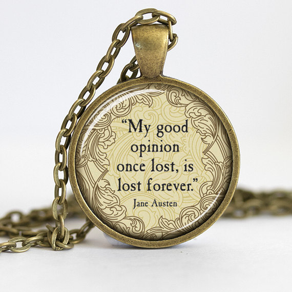 The charming quote necklace