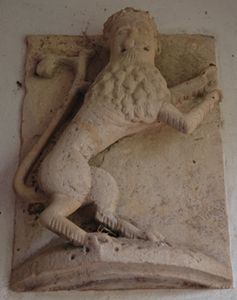 One of the lions from Fotheringhay Castle