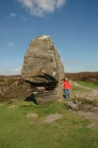 Me next to the large Torr on Stanton on the Moor