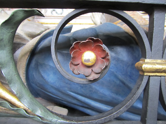 Part of the screen around the effigy of Robert Earl of Leicester (Queen Eliabeth's favorite)