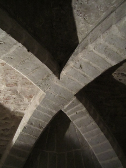 Shadows on the roof of the crypt